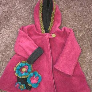 WARM! Winter fleece coat size 4 Corky & Co.